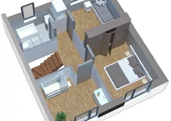 bud mały piętro